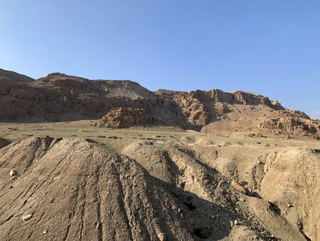 Qumran is a place in the Jordan Valley where Qumran scrolls were discovered Banco de Imagens