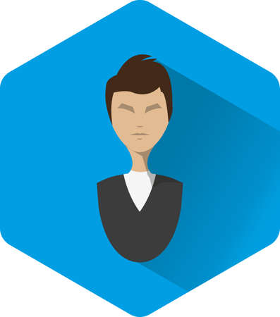 manager: Manager vector icon business men