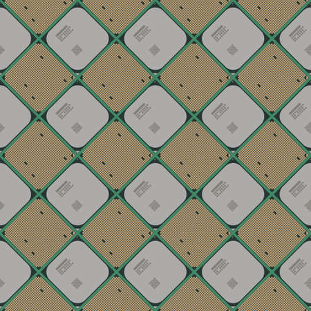 processors: Seamless wallpaper pattern from processors, technology background, illustration Illustration