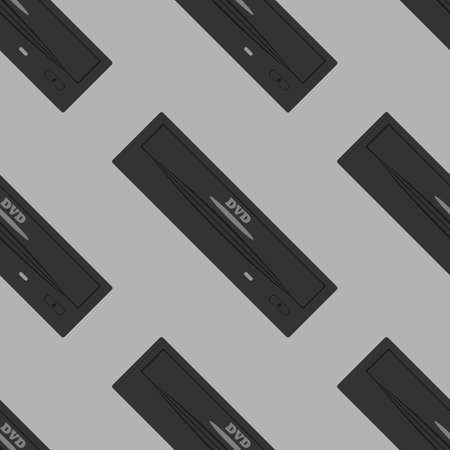 harddrive: dvd drive pattern. Seamless pattern on a gray background.