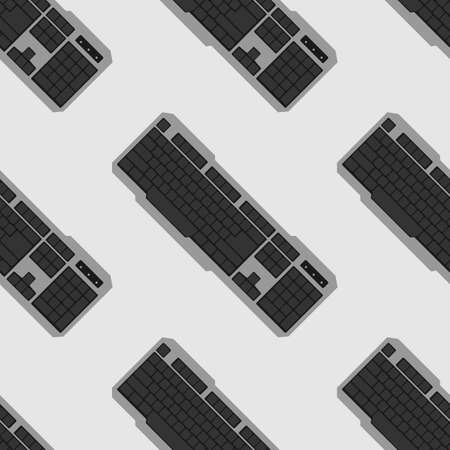 electronics store: Keyboard seamless pattern. element for electronics store packaging