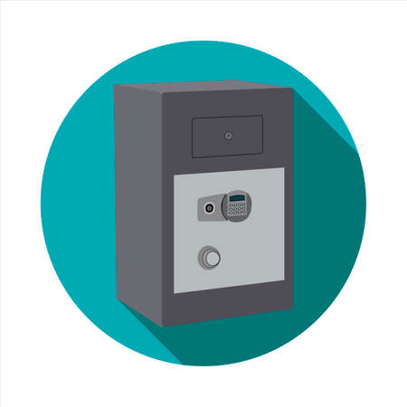 Vector image of Safe deposit