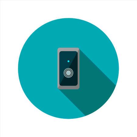 Vector image of Reader keychain Illustration