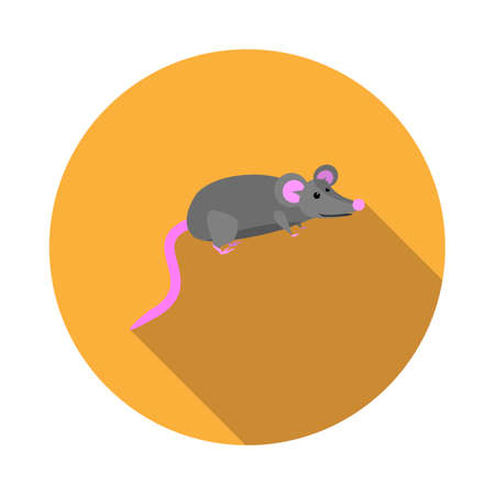 Vector image mouse on a round basis Illustration