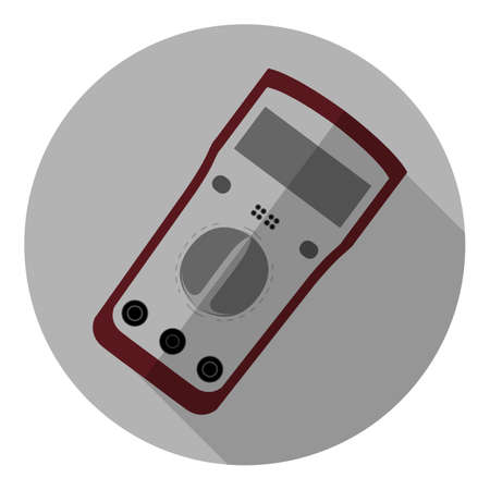 alternating current: Vector image of a multimeter Stock Photo