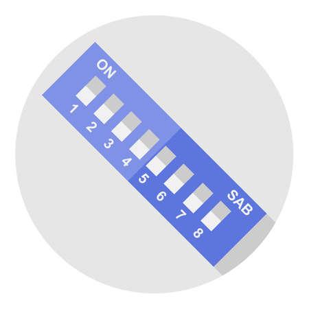 resonator: Vector image dip switch