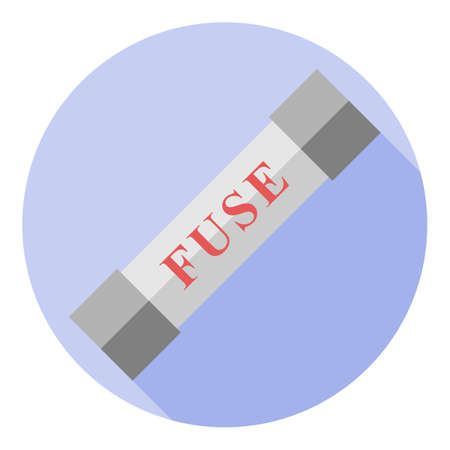 Vector image of an electric fuse on a round background Illustration