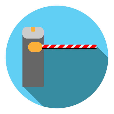 Vector image barrier on a round background Stock Photo