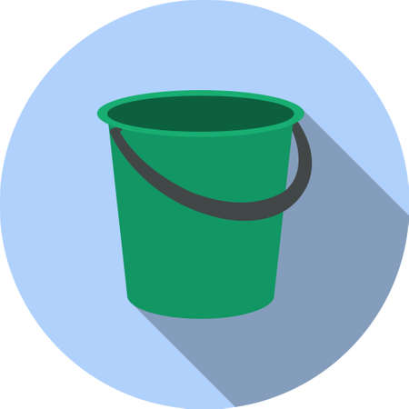 vector image buckets in a circle green