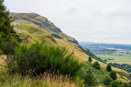 On top of Ochil hills near Blairlogie, Scotland Stock Photo