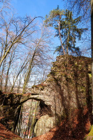 Torfelsen close to Beilngries, Germany Stock Photo - 119092494