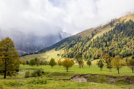 Ahornboden valley in Tyrol, Austria