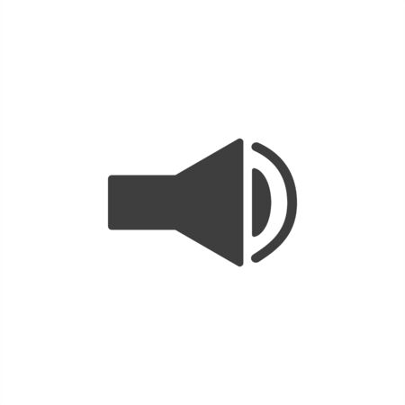 sound icon on a white background