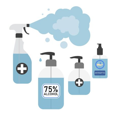 Hand sanitizers. Alcohol rub sanitizers kill most bacteria, fungi and stop some viruses such as coronavirus. Hygiene product.