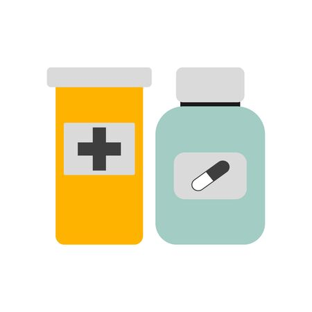 Pill bottle isolated icon on white background. EPS10 Ilustração