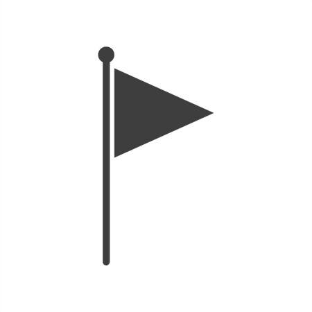 flag icon on a white background