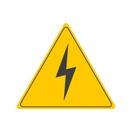 high voltage vector sign on a white background