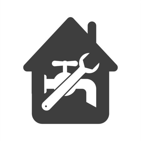 plumbing repair icon on a white background