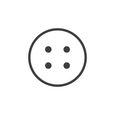 button icon vector black stud sign