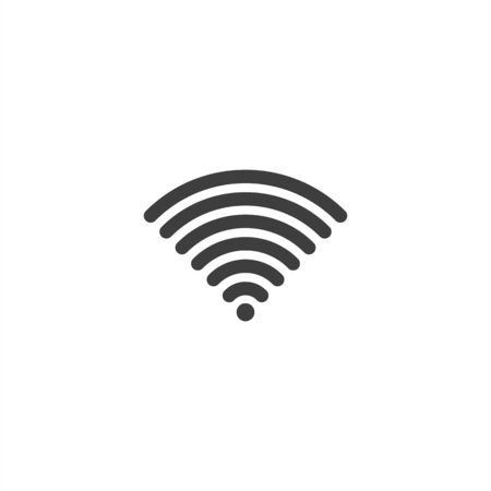 Wireless and wifi icon or sign for remote internet access. Podcast vector symbol. 向量圖像