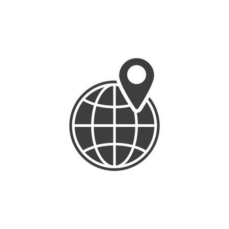 pin on globe icon. EPS10