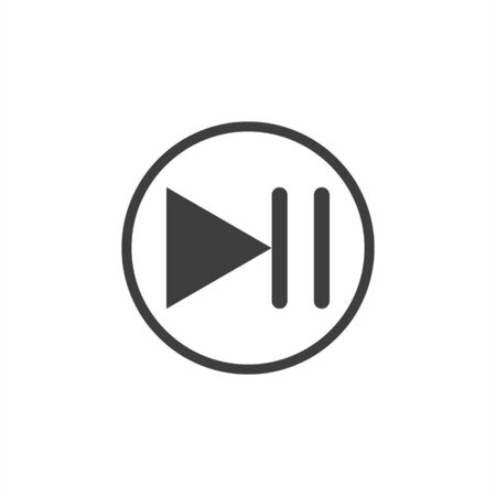 pause button on white background