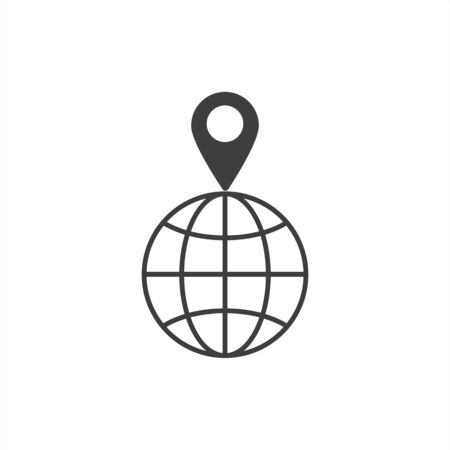 pin on globe icon.