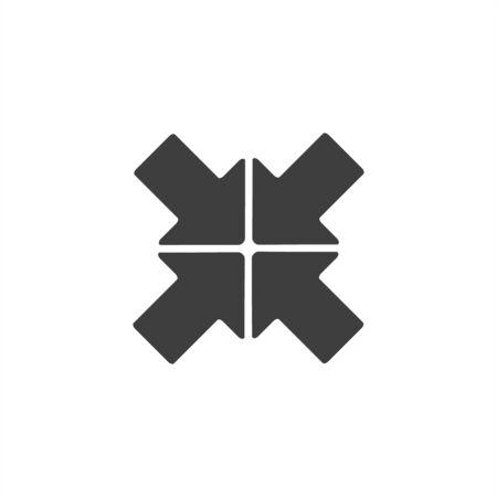 Expand resize enlarge. Icon on a white background.