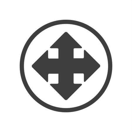 Extend icon on white isolate