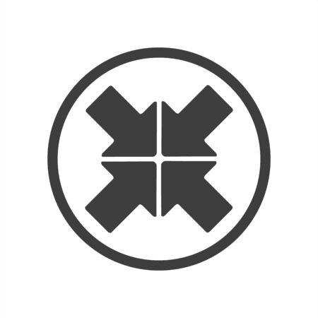 Expand resize, enlarge icon on a white 向量圖像