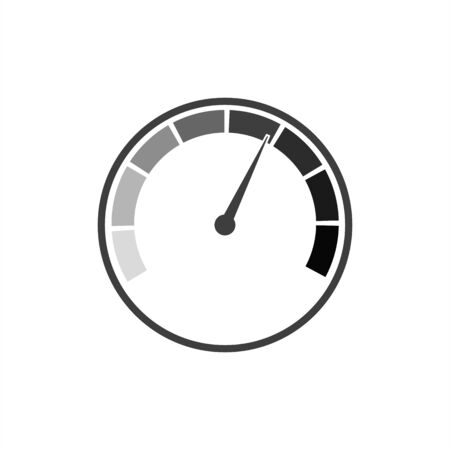 Speedometer vector icon on a white background. 向量圖像