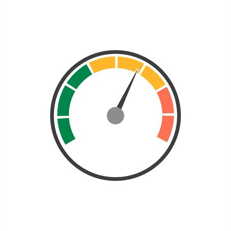 Speedometer vector icon on a white background. Stock Illustratie
