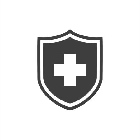 shield icon on a white background 向量圖像