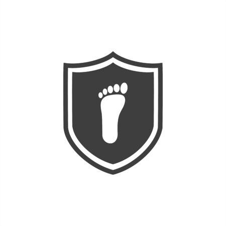 Shield Foot  vector template, Creative of Foot   design concepts 向量圖像