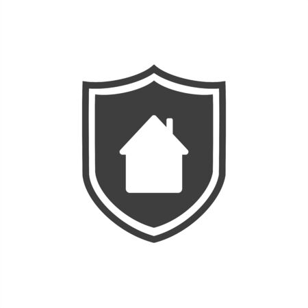 shield and house   on a white background