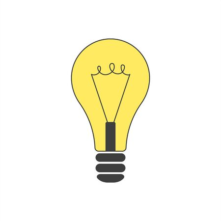 Vector light bulb icon on a white background.