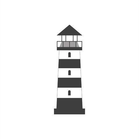 Lighthouse icon on a white background, flat style 向量圖像