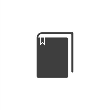 book icon vector illustration. Flat design 向量圖像