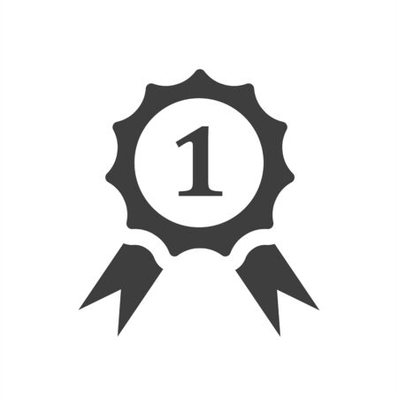 first place icon on a white background, medal, award 向量圖像