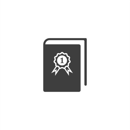 image of book with first place icon on a white background