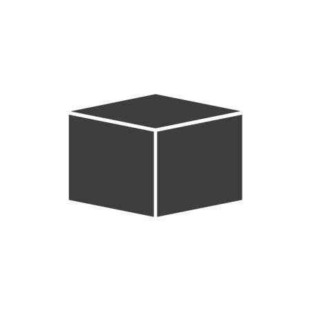 cube icon vector on white background