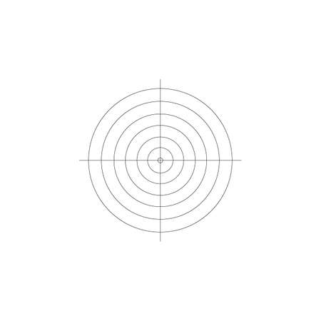 Shooting Target Icon Isolated on White Background. Vector illustration.