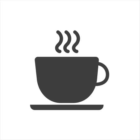 Cup of coffee icon on a white background