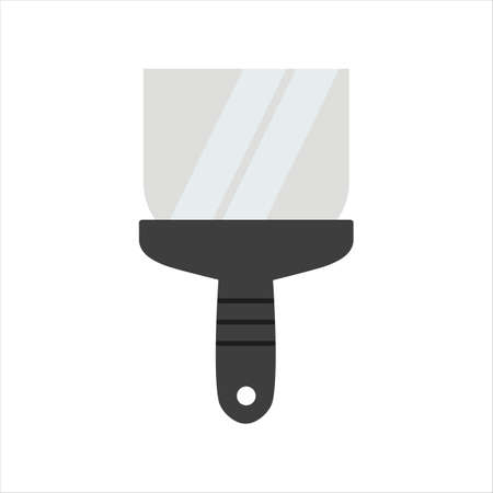 Spatula with a handle. Building tool. Putty tool.