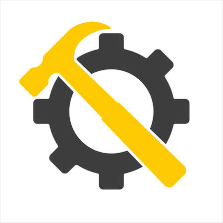 tools icon over black background