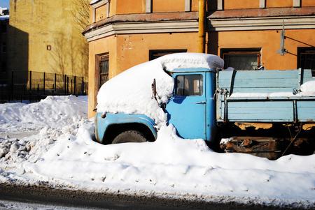 snowdrifts: Snowdrifts in Saint-Petersburg, Russia Stock Photo