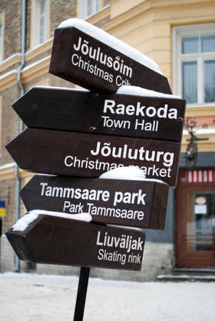 tallinn: A pointer in Tallinn, Estonia