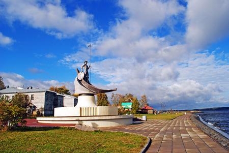 onega: Embankment of Lake Onega, Petrozavodsk, Russia
