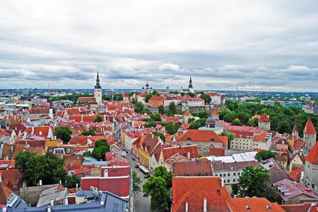 estonia: Tallinn old town panorama, Estonia