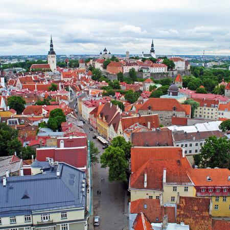 Tallinn old town bird-eye-view, Estonia